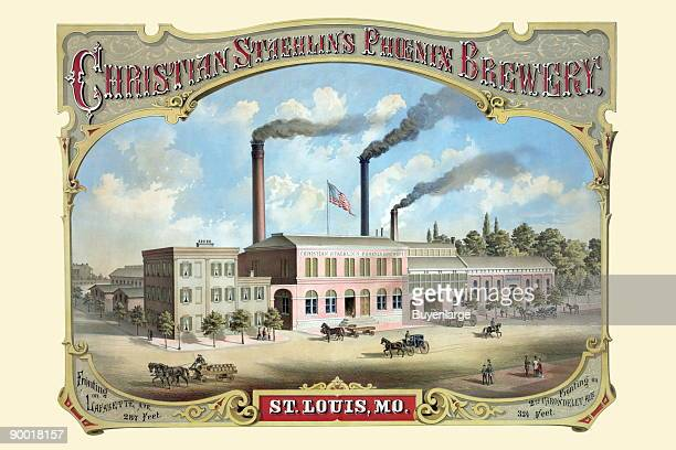 This advertising poster was issued during the late 1800s by Christian Staehlin's Phoenix Brewery St Louis Missouri