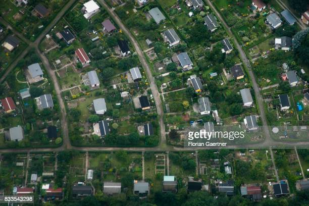 This aerial photo shows an allot settlement on August 04 2017 in Dresden Germany