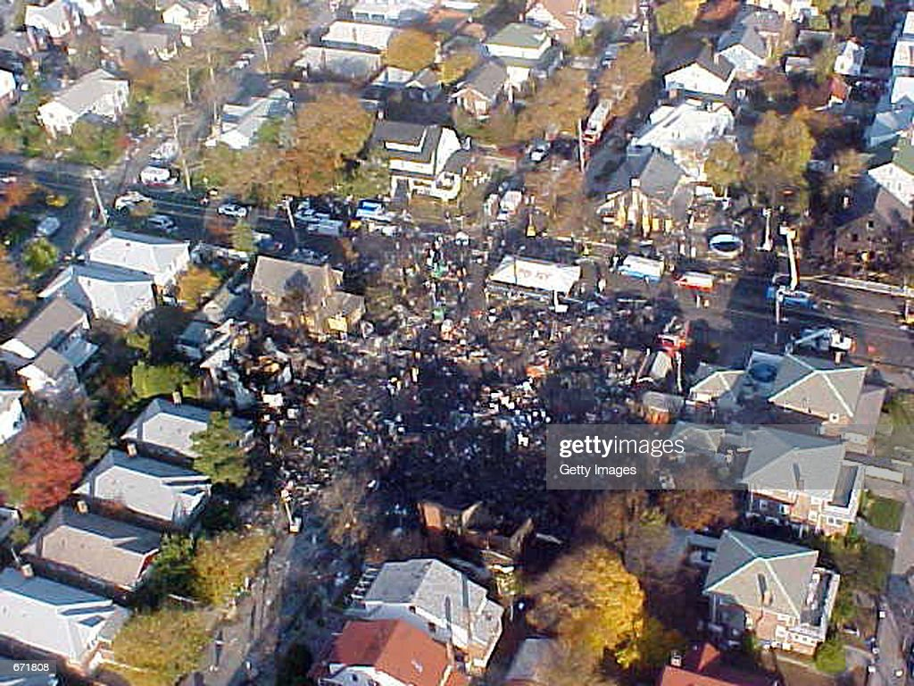 Aerial View Of New York Crash Site : News Photo