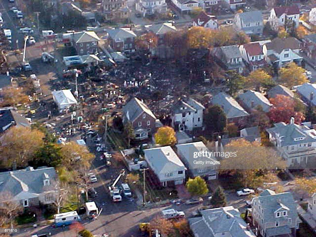 Aerial View Of New York Crash Site : News Photo