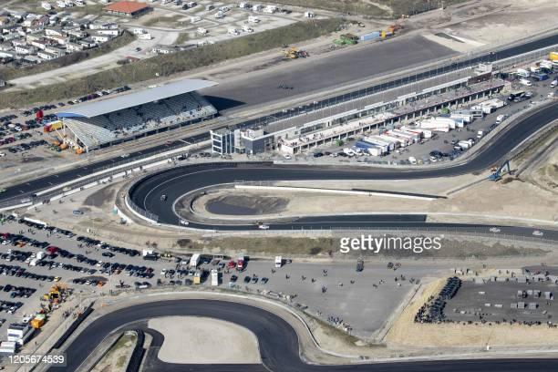 This aerial photo taken on March 7 shows the Circuit Zandvoort, in Zandvoort, around 30 kilometres west of Amsterdam, where the 2020 Formula 1 Dutch...
