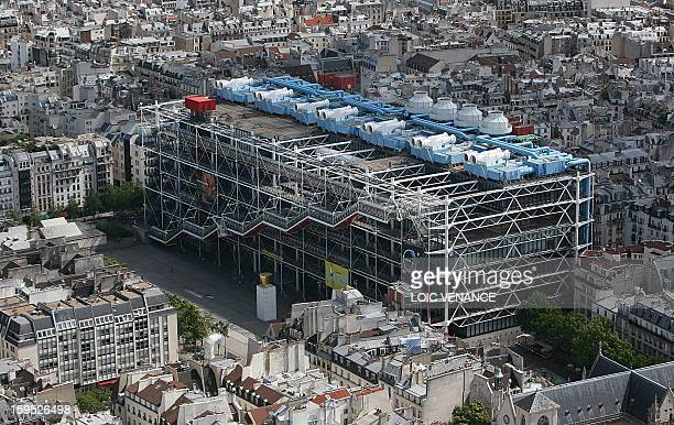 This aerial picture taken on July 14, 2009 in Paris, shows the Georges Pompidou center. AFP PHOTO LOIC VENANCE