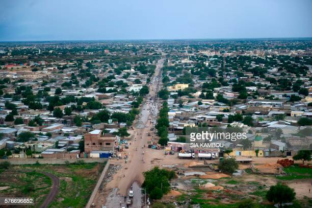 This aerial picture taken on July 16 2016 shows a general view of the Chad capital city N'Djamena / AFP / SIA KAMBOU