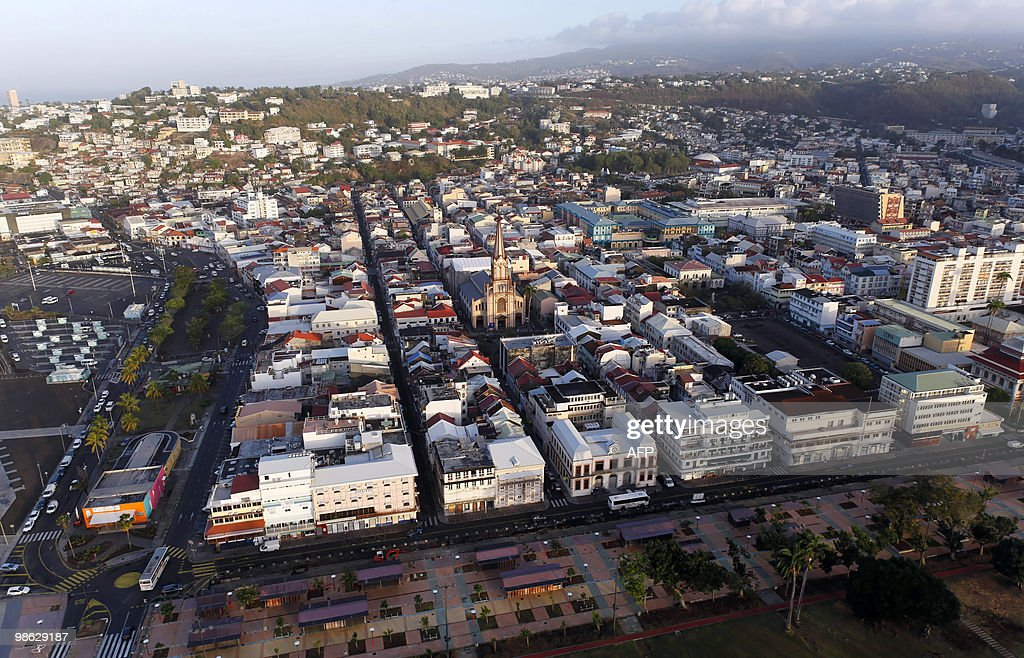 This aerial picture taken on March 16, 2010 shows the city of Fort-de-France on the French island of La Martinique, in the eastern Caribbean Sea.