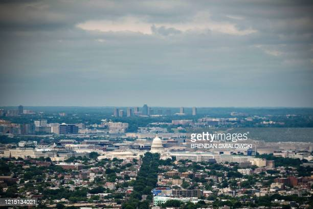 This aerial view of Capitol Hill is seen on May 25 in Washington, DC. - US House Democrats will make history Friday by voting for Washington DC to...