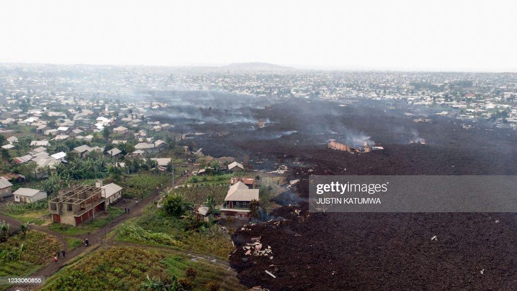 TOPSHOT-DRCONGO-ENVIRONMENT-VOLCANO : News Photo