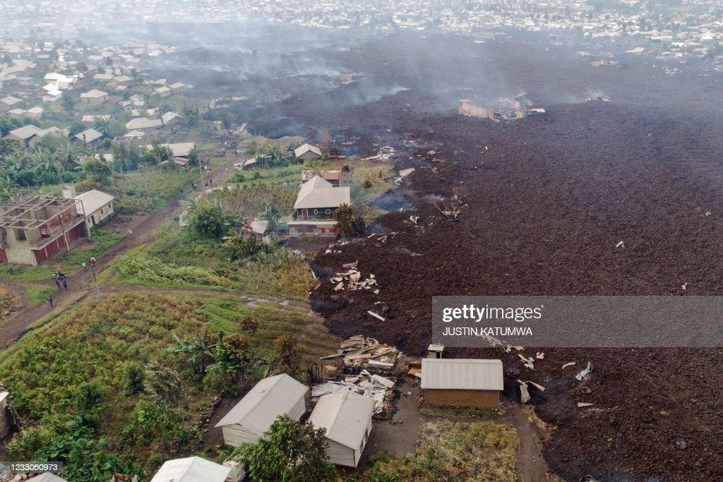 DRCONGO-ENVIRONMENT-VOLCANO : News Photo