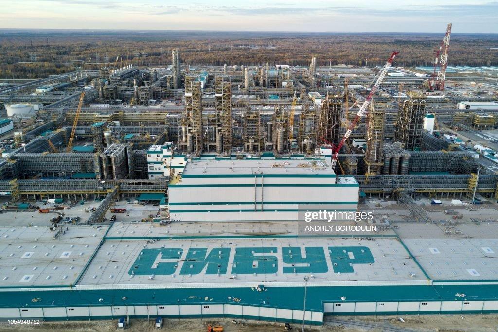 RUSSIA-CHINA-ECONOMY-OIL-ENERGY-SYNTHETICS-CONSTRUCTION : News Photo
