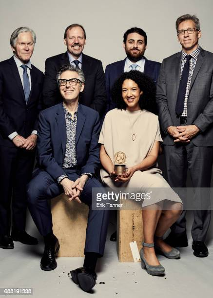 Anatomy of Doubt team Bill Keller Ken Armstrong Ira Glass Robyn Semien Brian Reed and Joel Lovell are photographed at the 76th Annual Peabody Awards...
