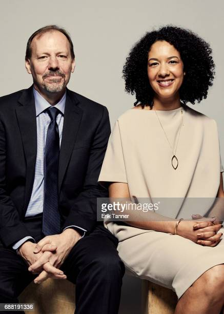 Anatomy of Doubt team Ken Armstrong and Robyn Semien are photographed at the 76th Annual Peabody Awards at Cipriani Wall Street on May 20 2017 in New...