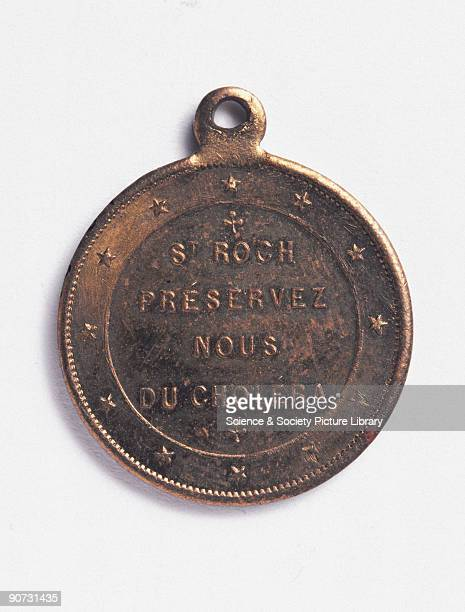 This amulet is inscribed on the reverse with the words �St Roch preservez nous du cholera� St Roch was often invoked against the Plague and other...