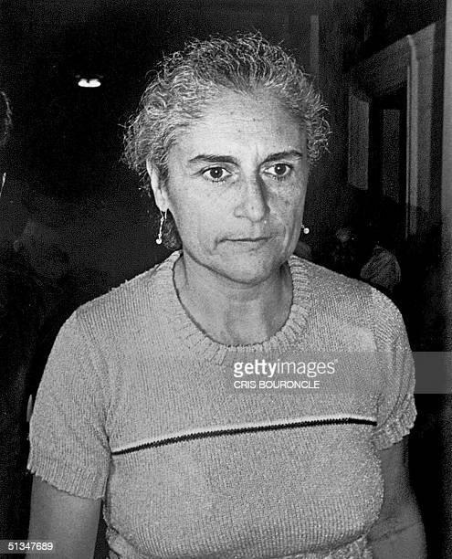 This April 1985 file photo shows Chilean Sybile Arredondo wife of Peruvian writer JosT Maria Arguedas arriving in court for conviction as a leader of...