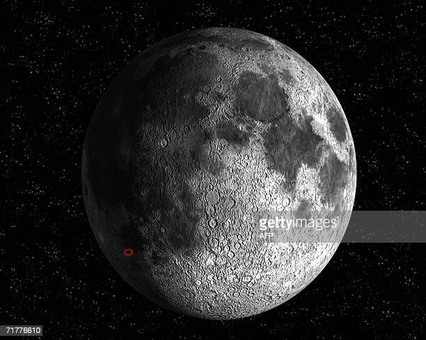 This artist's impression shows the location of the SMART1 impact on the Moon surface expected for 3 September 2006 at 0741 CEST Europe's first probe...