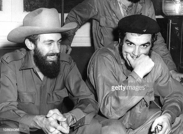This August 1959 file photo shows Cuban revolutionary legends Comandante Camilo Cienfuegos and Comandante Ernesto Che Guevara in Havana Cubans...