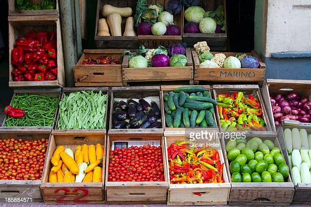 CONTENT] This beautiful produce stand was seen in Cuidad Vieja which is the beautiful old Colonial section of the city of Montevideo Uruguay Taken...