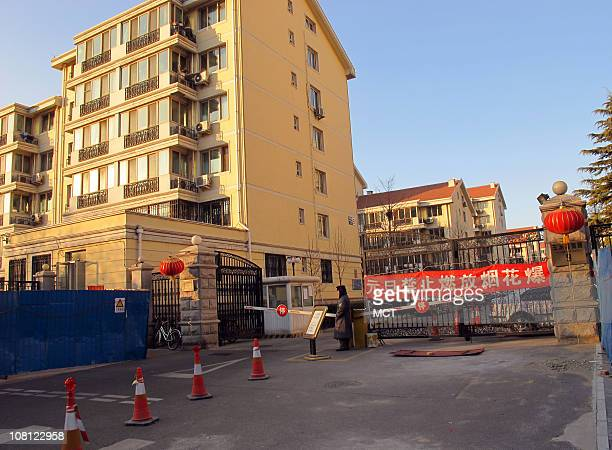 This Beijing apartment complex January 18 where Liu Xia the wife of Nobel Peace Prize winner Liu Xiaobo is thought to have been held under de facto...