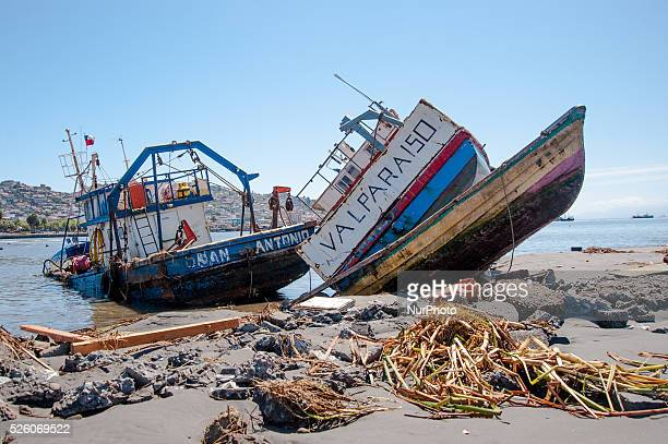 This boat expelled for tsunami the name is San Antonio and Valparaiso located 550 km from the port city of Coquimbo Coquimbo Chile on 22 september...