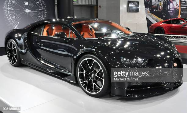 This Bugatti Chiron is displayed during the Vienna Autoshow as part of Vienna Holiday Fair on January 10 2018 in Vienna Austria The Vienna Autoshow...