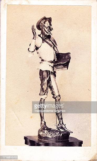 This carte photo of a statue of Don Quixote is from circa 1870 from London England