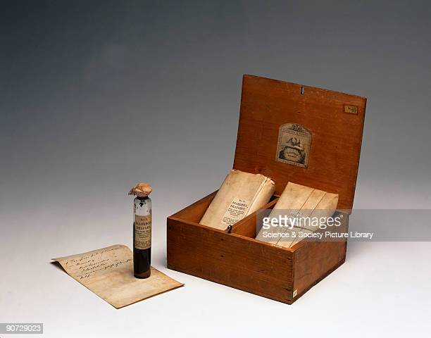 This chest contains medicines for the treatment of cholera an infectious gastrointestinal disease Cholera epidemics swept across Europe and America...