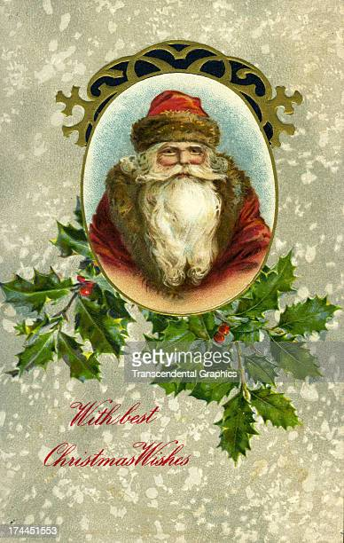 This Christmas postcard with a handsome Santa Claus is produced around 1910 in Germany