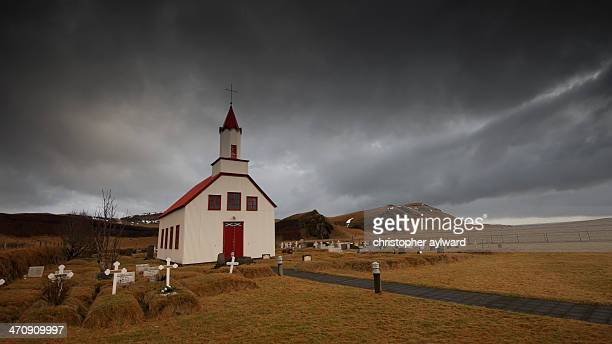 CONTENT] This church was taken in the area around Vic in southern Iceland It shows typical Icelandic and Nordic design it is a wooden building with a...