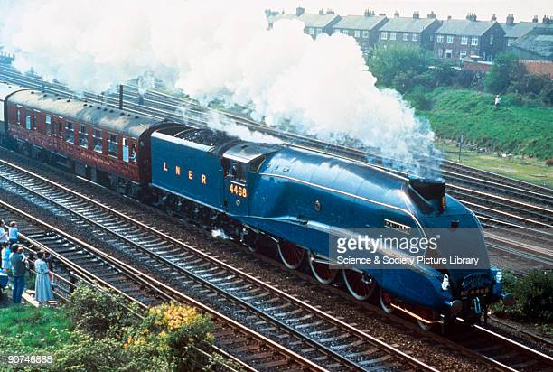 This class A4 locomotive was designed by Sir Nigel Gresley the chief mechanical engineer for the London North Eastern Railway and built at the...