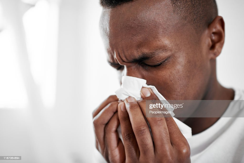 This cold has me feeling blue : Stock Photo