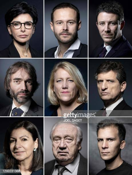 TOPSHOT This combination of file photos made on February 12 shows Paris city hall candidates Rachida Dati of the rightwing Les Republicains party on...