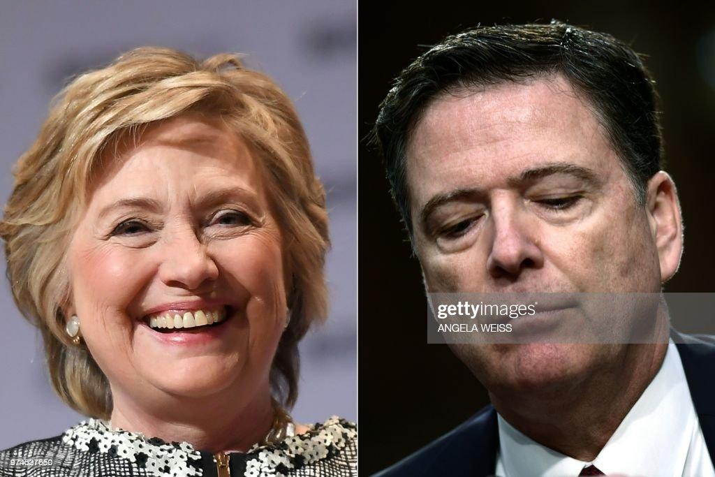 COMBO-US-POLITICS-INVESTIGATION-CLINTON : News Photo