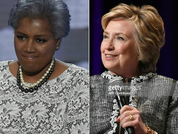 This combination of files photos created on November 3 2017 shows former DNC ViceChair Donna Brazile during Day 2 of the Democratic National...