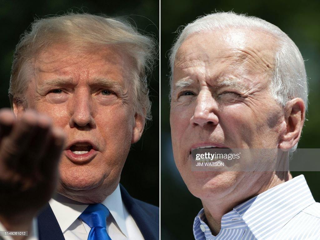 COMBO-US-POLITICS-TRUMP-BIDEN : News Photo