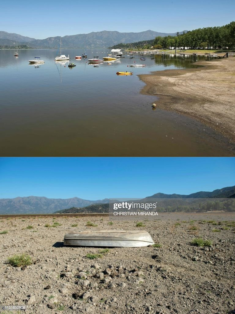 CHL: Drought wipes popular Chilean lake from the map