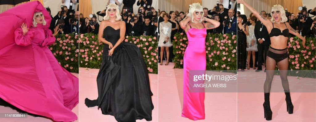 COMBO-US-ENTERTAINMENT-FASHION-METGALA-CELEBRITY-MUSEUM-PEOPLE : News Photo