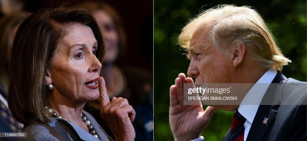 COMBO-US-POLITICS-DEMOCRATS-TRUMP-PELOSI : News Photo