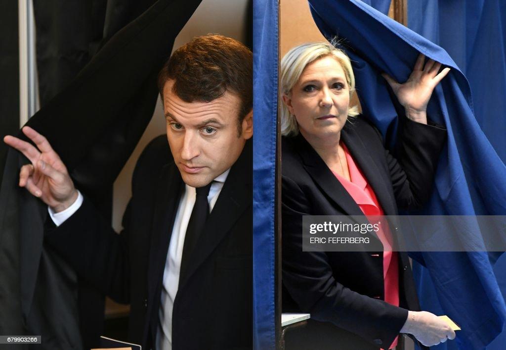 COMBO-FRANCE2017-VOTE : News Photo