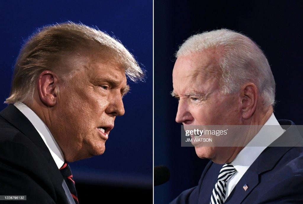 TOPSHOT-COMBO-US-VOTE-DEBATE : News Photo