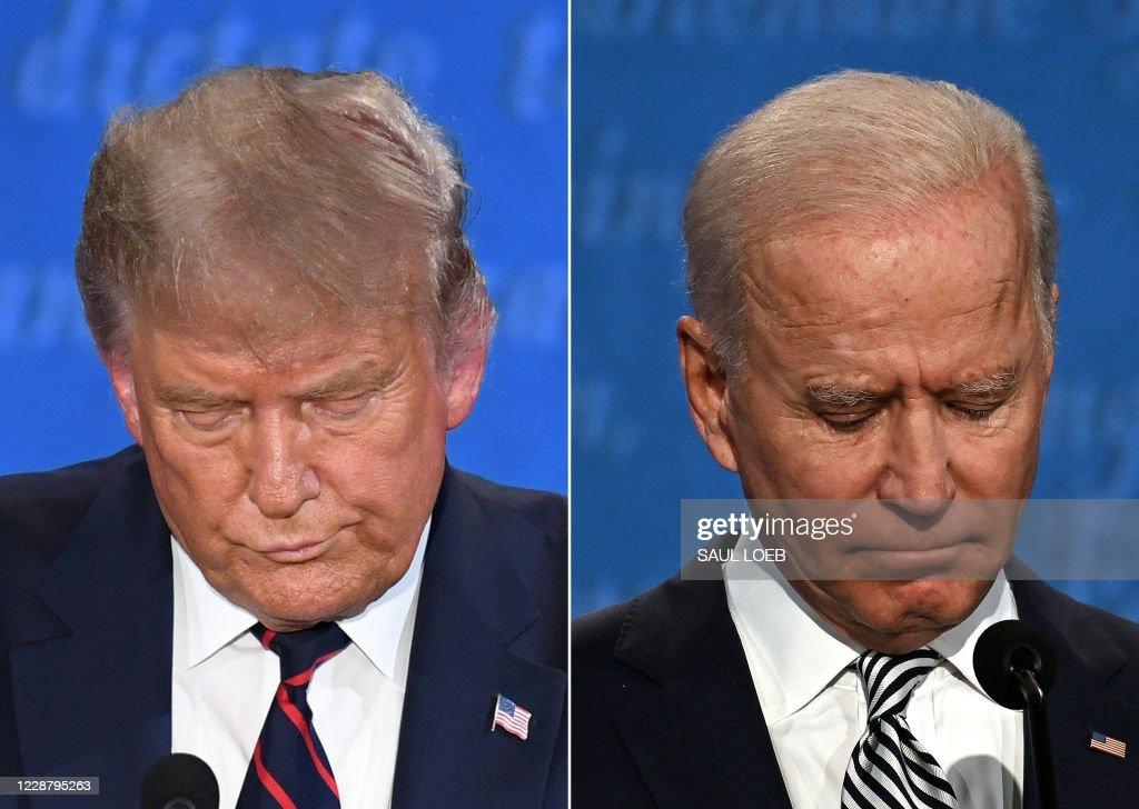 COMBO-US-VOTE-DEBATE : ニュース写真