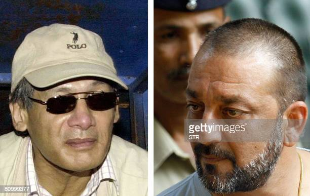This combination of two images taken in Kathmandu, Nepal and Mumbai, India shows a file photograph dated on October 16, 2003 of French national...