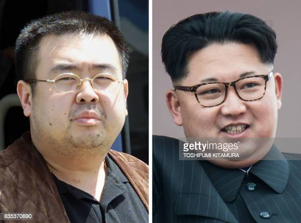 This combo shows a file photo taken on May 4 2001 of a man believed to be Kim JongNam son of the lateNorth Korean leader Kim JongIl getting off a bus...