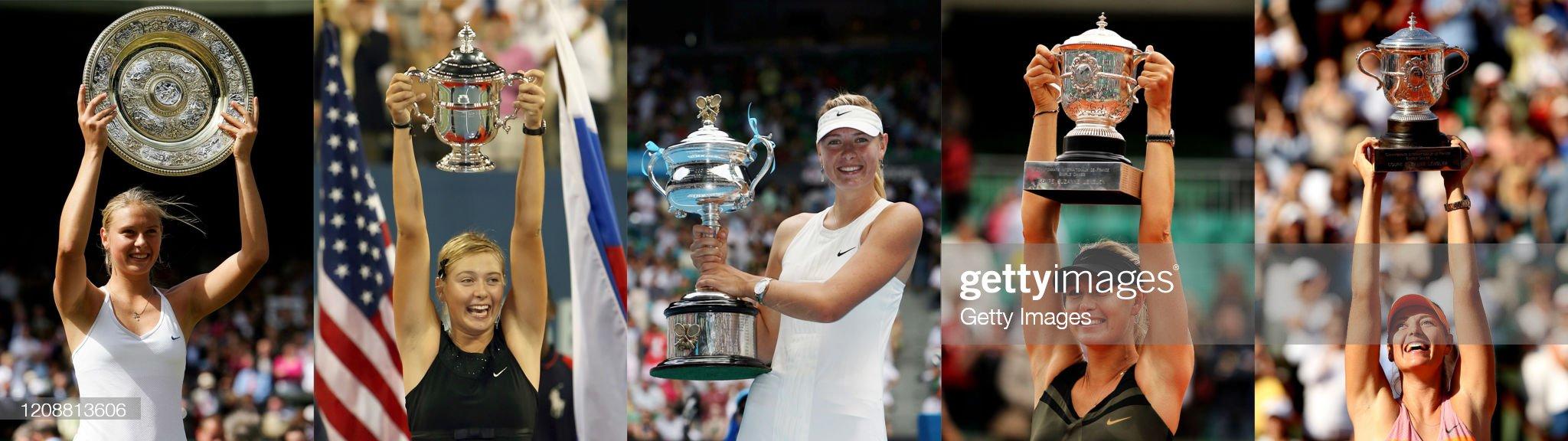 In Profile: Maria Sharapova's Grand Slam Wins : News Photo