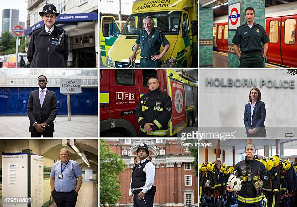 This composite image shows First Responders To The 7/7 London Bombings Metropolitan Police Constable Elizabeth Kenworthy Paramedic Craig Cassidy...