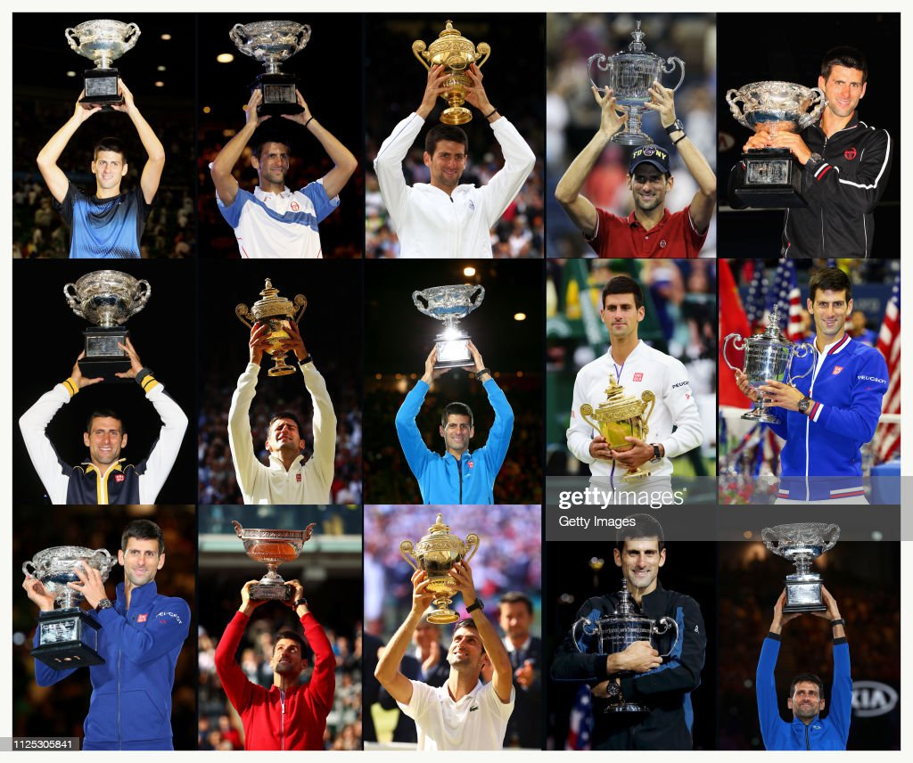 Novak Djokovic's 15 Grand Slam Titles : News Photo