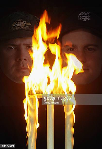 This composite photo illustration shows Ricky Ponting of Australia and Andrew Strauss of England who will compete in the upcoming 2009 Ashes test...