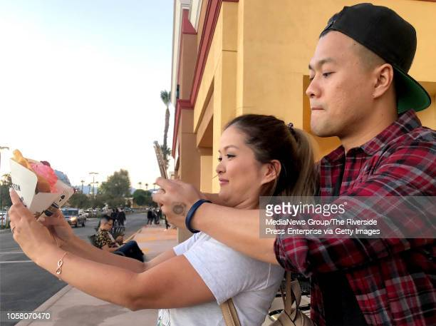 This couple who'd only give their names as eatwithjane left and foodninja Instagram Cauldron Ice Cream at Cravings Food Village in Chino Calif The...