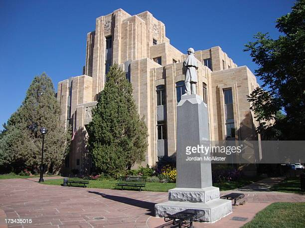 CONTENT] This courthouse was built in 1933 with the designs of Glen H Huntington It is one of the states greatest Art Deco courthouses