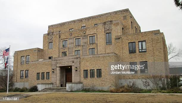 This courthouse was erected in 1931 with the Art Deco designs of the firm of Withers & Thompson. Menard used to be called Menardville; yet the name...