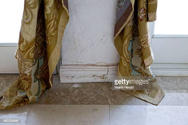 This crack in the baseboard is a small sample of the problems facing Dr Leonard Hochstein and his wife Lisa Hochstein of The Real Housewives of Miami...