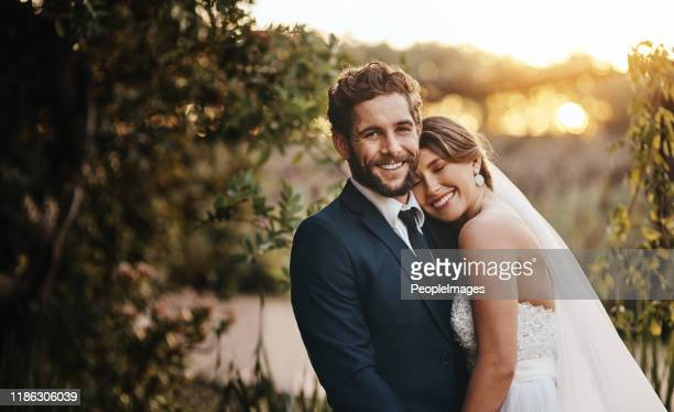 this day is the first of many beautiful days together - matrimonio foto e immagini stock