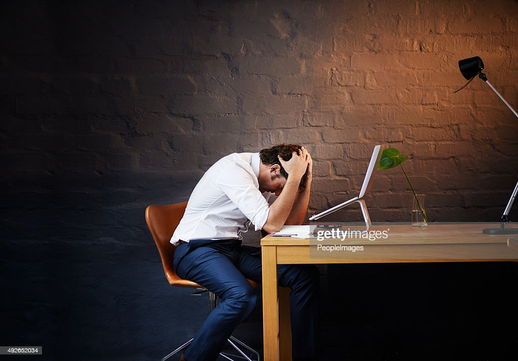 This day's been way too long... : Stock Photo